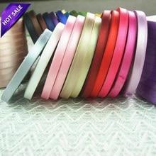 25Yards/lot 6mm Silk Satin Organza Ribbon For Sewing Wedding Party Decor Webbing Crafts Gift Balloon Packing Supplies 7zza071-3