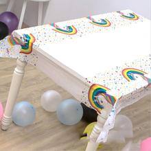 1pcs/pack Kids Favors Map Baby Shower Unicorn Theme Decorate Birthday Party White Tablecloth Plastic Table cover Events Supplies