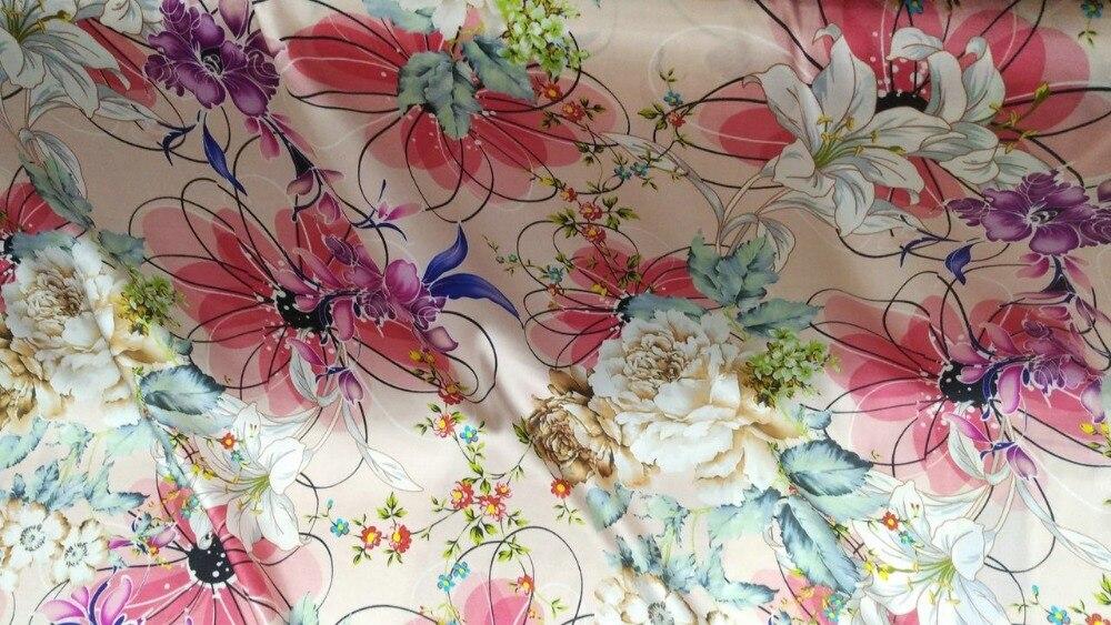 Femmes Super popeline tissé élastique 97% tissu de soie pour coudre des vêtements chemise Plaid peter lapin fleurs imprimer matériel tissu telas