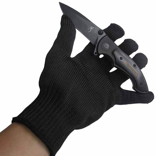 Stainless Steel Wire Safety Work Anti-Slash Cut Static Resistance Wear-resisting Protect Gloves Hand Safely Security Black personal cut resistant work gloves static resistance glove stainless steel wire safety work anti slash cut proof fc