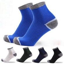 5Pairs/lot Men high quality autumn crew socks cotton winter casual breathable long for men meias Herren Socken Compression