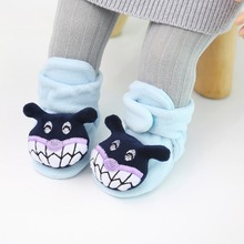 Fashion Autumn Winter Cartoon Animal Shaped Cotton Baby Shoes Non-slip Soft Bottom Toddler First Walkers Y13