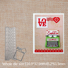 Lace and love label Cutting Dies Tag Scrapbooking Metal for Card Making Label Craft Album Embossing Stencil