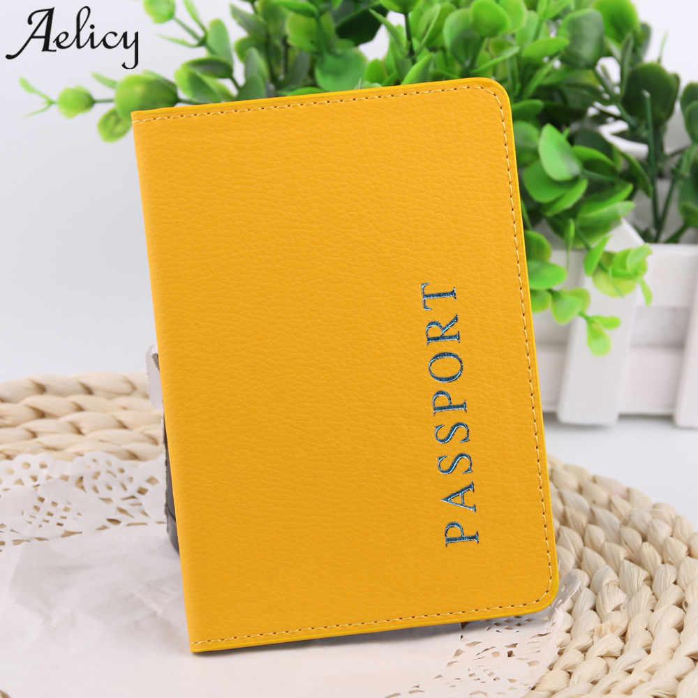 Aelicy heißer verkauf 2018 Frauen Männer Reisepass Schutz Brieftasche Visitenkarte Weichen Passport Abdeckung Organizer Abdeckung großhandel