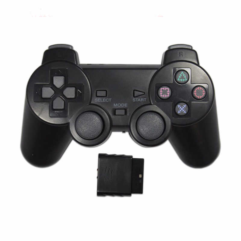EastVita Color transparente Wireless Gamepad para Sony PS2 2,4G vibración Joystick Bluetooth controlador para Playstation 2 Joypad