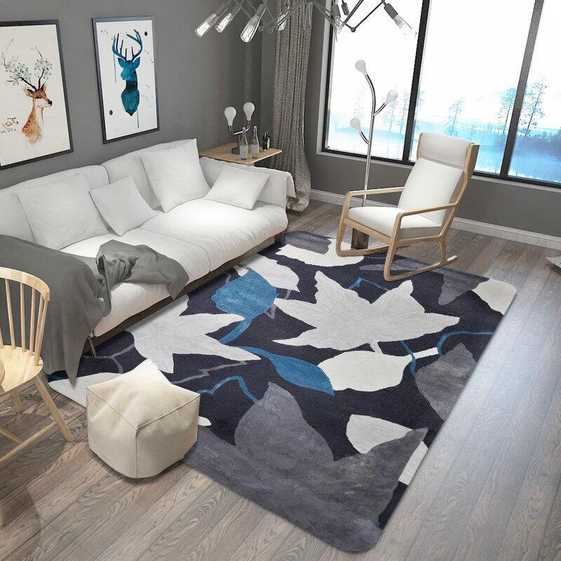 Feuilles imprimé tapis et tapis pour salon et chambre tapis de zone douce mode tapis de Table enfants tapis de jeu bébé tapis de sol tapis - 2