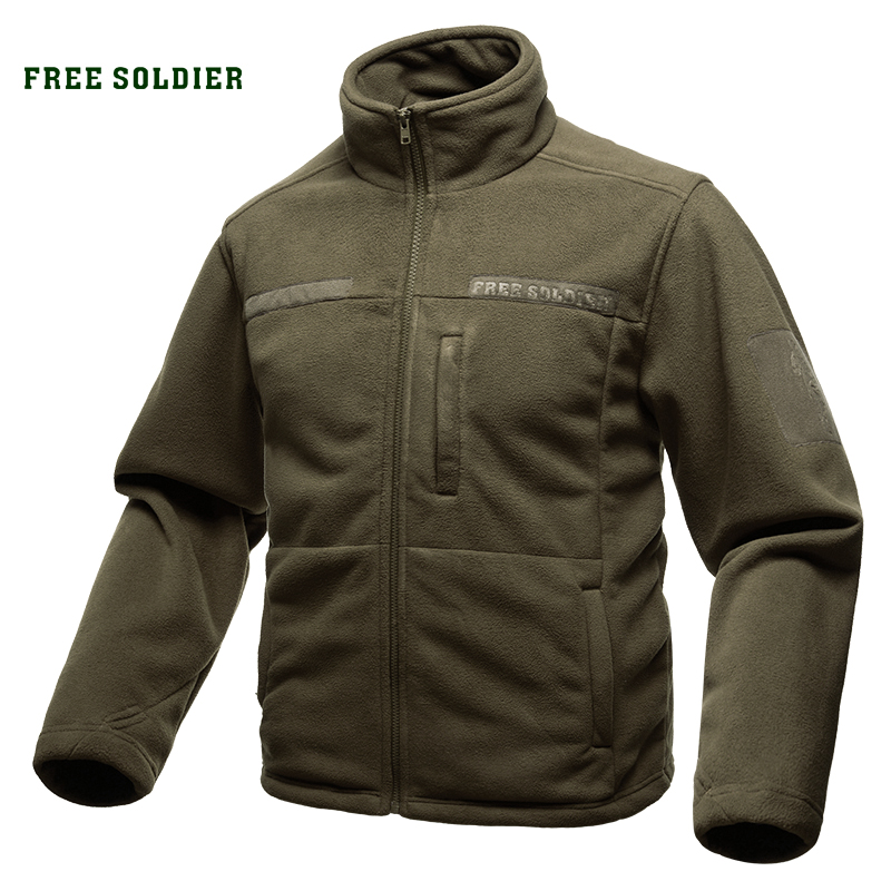 FREE SOLDIER Outdoor Sports Camping Hiking Jackets Men s Clothing Tactical Fleece Jacket for Climbing
