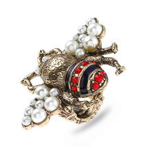 Vintage Bee Ring For Women Adjustable