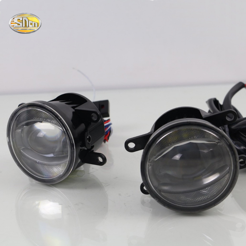 SNCN 24W+14W LED Multifunctional LED Fog Lamp for Suzuki SX4 2006~2017 with DRL daytime running lights sncn 24w 14w led multifunctional led fog lamp for honda city 2014 2015 2016 with drl daytime running lights
