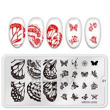 1PC חדש מסמר חותמת צלחות SpringFlowers תבנית תמונה חותמת הדפסה נייל אמנות תבניות DIY מניקור סטנסילים חותמת כלים
