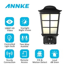ANNKE Latest 1080P 2MP HD 2.4G Wifi Smart Lamp Hidden Courtyard Light Camera Remote Access 32GB IP Home Security Surveillance