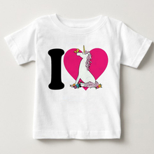 Toddler Kids Girls Unicorn Clothing Tops Summer short sleeves Tops T-shirt Clothes Casual T shirt Baby Clothes недорого