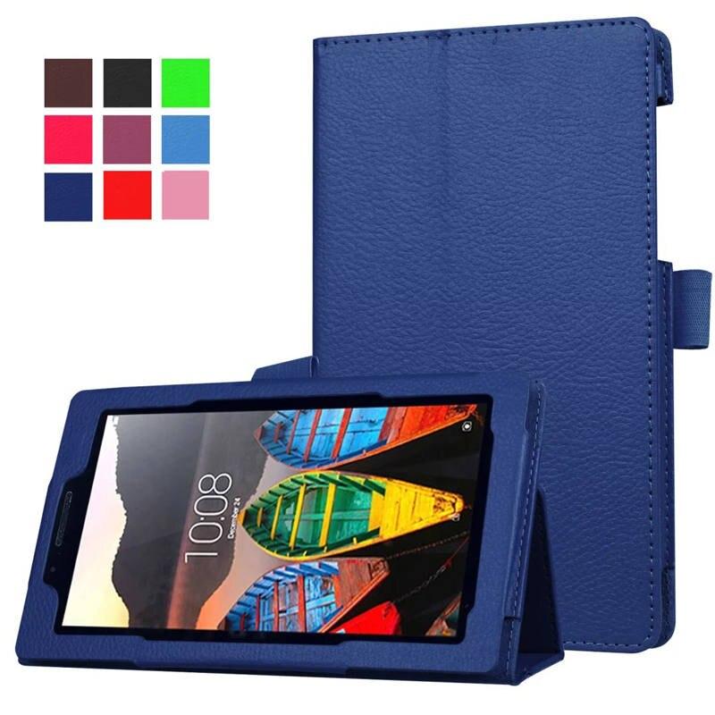 Magnet Stand Lichi Pu Leather Funda For Lenovo Tab 3 730F 730M 730X 7.0 Case Tablet For Lenovo TB3-730F TB3-730M Cover планшет lenovo tab 3 16gb tb3 730x 4g