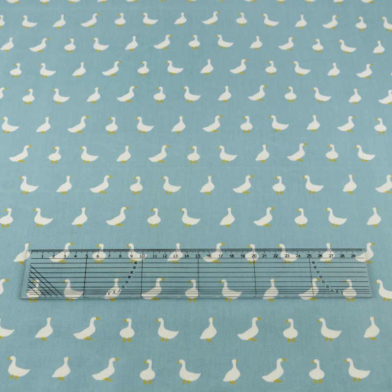 Teramila Fabrics Blue Goose Cotton Fabric Bedding Decoration Tecido Tissue Home Textile Patchwork Quilting Sewing Cloth Craft