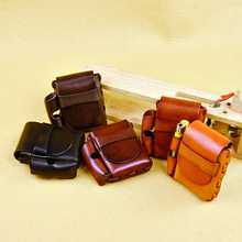 Handmade Lady/Männer Lange Echtem Leder Zigarettenetui Box Mit leichter Halter Weihnachtsgeschenk