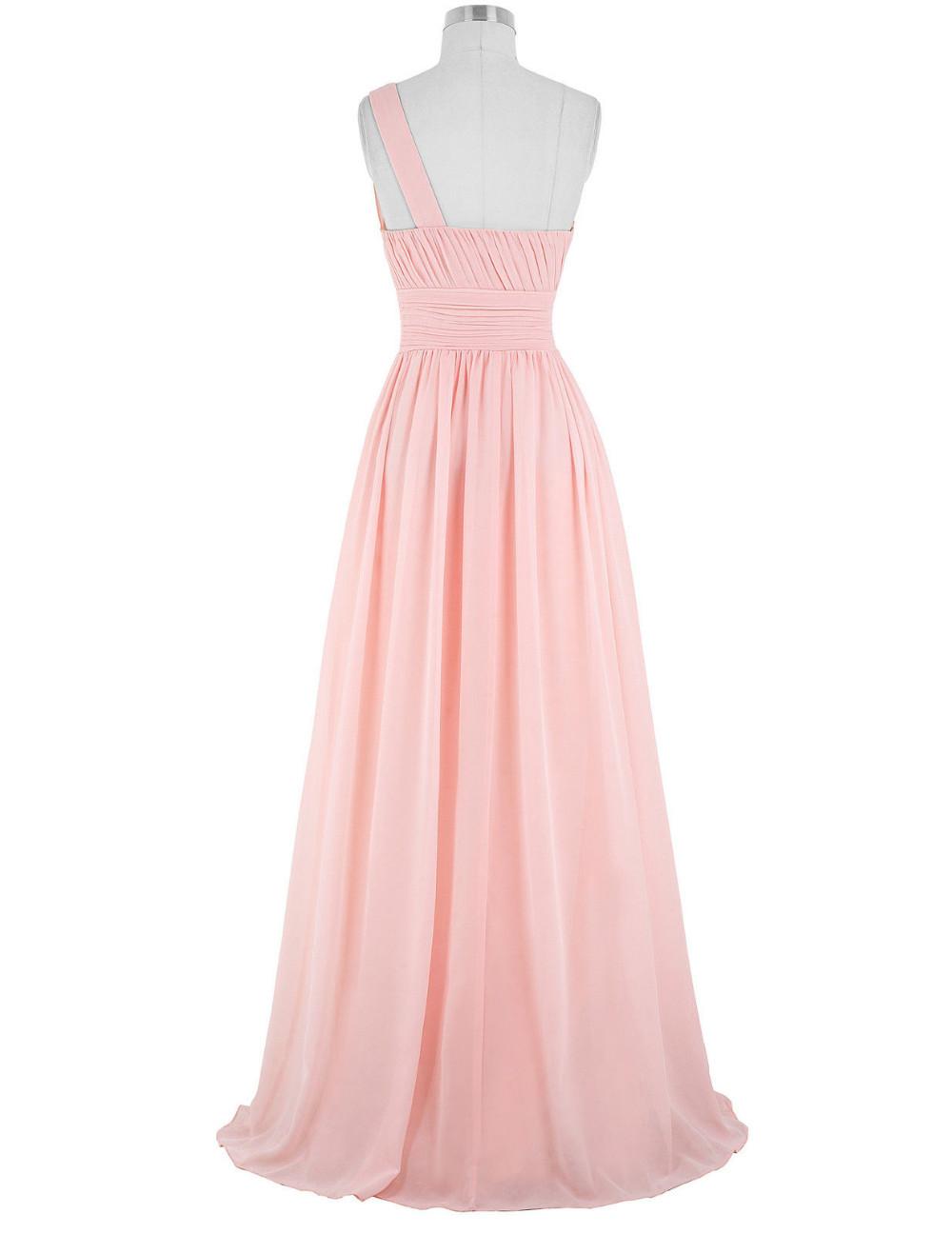 Kate Kasin Mint Green Bridesmaid Dresses Long Wedding Party Dresses One Shouler Bruidsmeisjes Jurk Pink Bridemaid Dress 0200 12