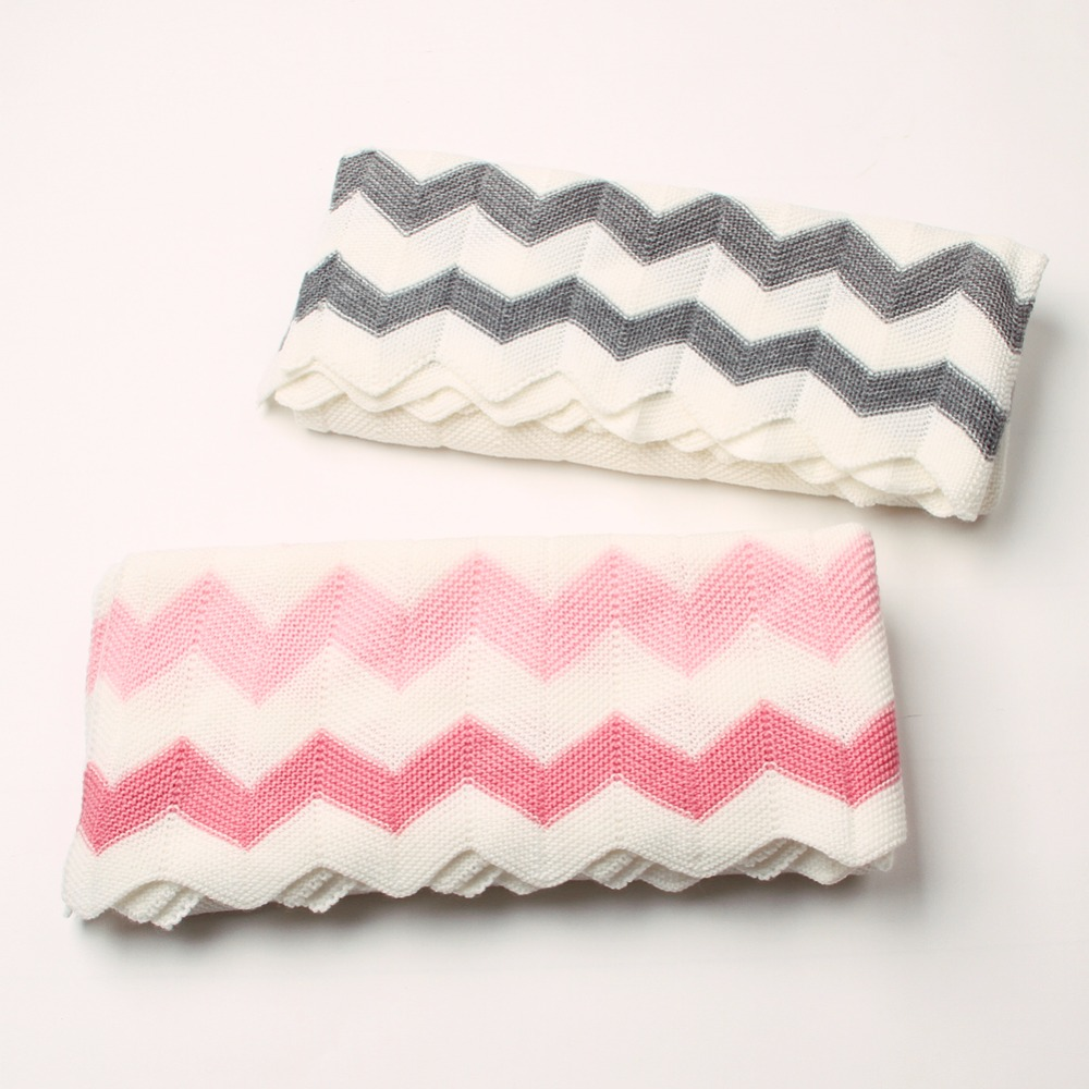 Baby Blankets Swaddle Wrap Super Soft Newborn Bebe Bedding Sofa Basket Covers Fashion Stripes Knitting Kids Boys Throwing Quilts