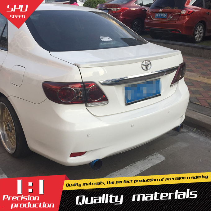 For <font><b>Toyota</b></font> <font><b>Corolla</b></font> <font><b>Spoiler</b></font> ABS Material Car Rear Wing Primer Color Rear <font><b>Spoiler</b></font> For <font><b>Toyota</b></font> <font><b>Corolla</b></font> <font><b>Spoiler</b></font> 2008-2013 image