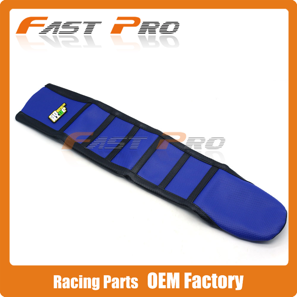 Pro Rib Ribbed Blue Gripper Soft Rubber Seat Cover For YZ250F 2010-2013 10 11 12 13 Motorcycle