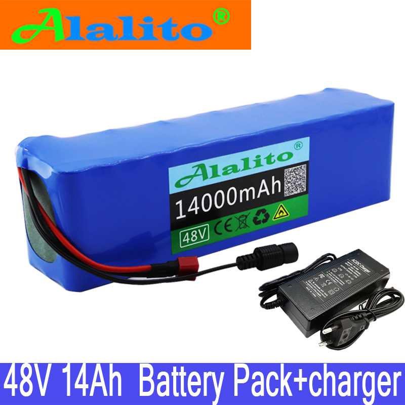 Alalito Battery-Pack Charger Conversion-Kit Electric-Bicycle-Battery Lithium-Ion 1000w