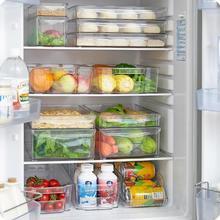 Caja de almacenamiento de cajones rectangulares de plástico para refrigerador