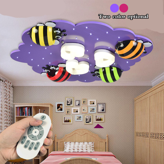 Aliexpress.com : Buy Purple/pink color cartoon led ceiling light for ...