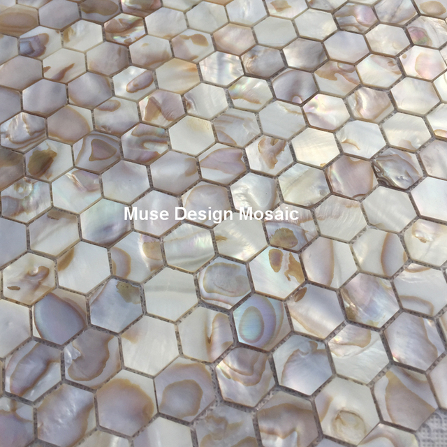 Natural white hexagon oyster mother of pearl shell mosaic tile natural white hexagon oyster mother of pearl shell mosaic tile kitchen shower wallpaper bath diy cabinet ppazfo