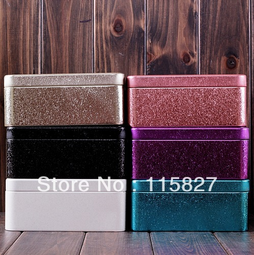 FreeShipping!Laser color Iron Box Metal storage box Storage Case with inner sundries container mixed color