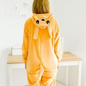 Image 2 - HKSNGสัตว์ผู้ใหญ่Kangaroo Kigurumi OnesieชุดนอนFlannelการ์ตูนครอบครัวParty Halloween COSPLAYเครื่องแต่งกายชุดนอนซิป
