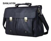 Мужской портфель из воловьей кожи, портфель из натуральной кожи, s для 15 дюймов, портфель для ноутбука, мужская сумка тоут, деловой чехол, Муж