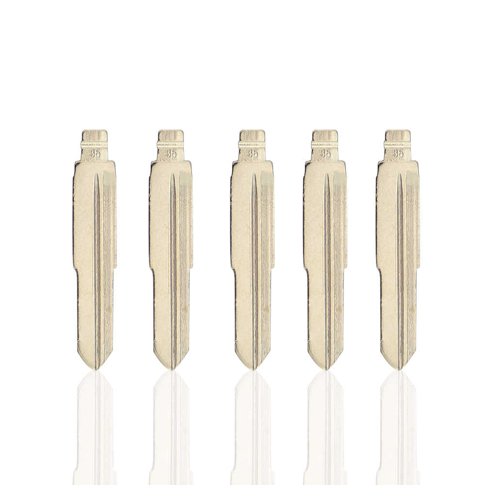 OkeyTech 5PCS/LOT NO.36 Replacement Metal Blank Uncut Flip KD Remote Key Blade Type #36 for Hyundai Tucson