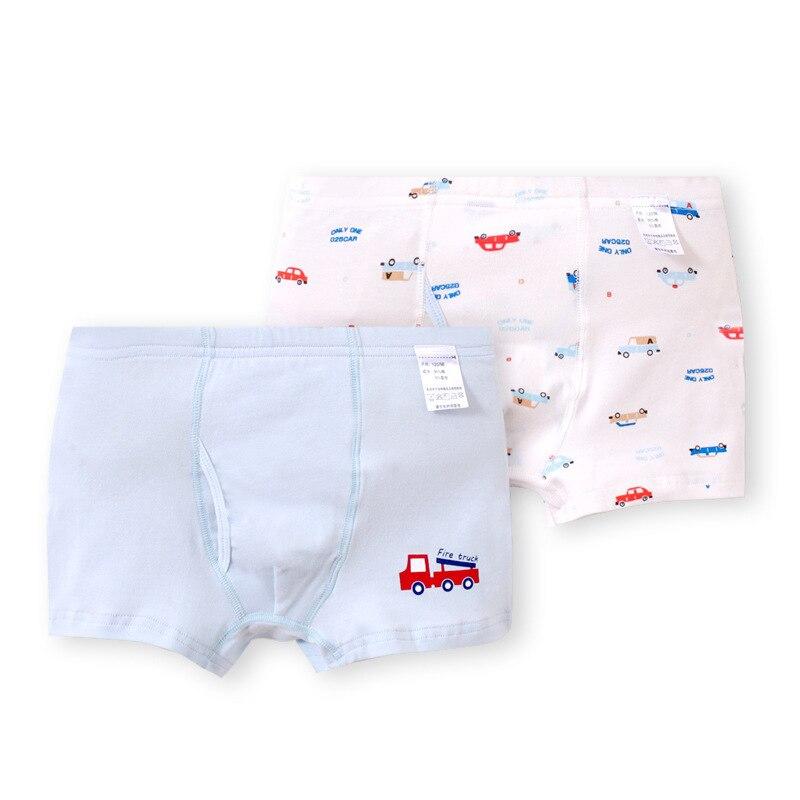 Underwear Boxers Catamite Pants Printing Boy Cotton 2pcs/Lot Automobile Children Cute