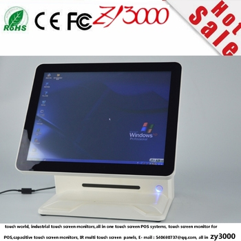hot sale supermarket New Style 15 inch Factory Price Touchscreen POS Terminal  With MSR card reader