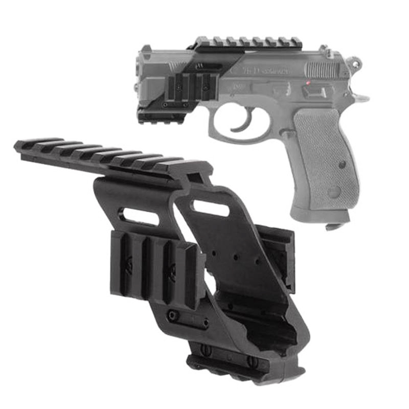 Universal Tactical Plastic Polymer Base Quad Rail Picatinny Sight Laser Lighting Scope Mount For Glock 17 1911 Accessories