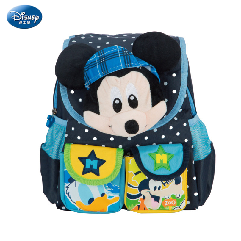 Disney 2018 Mickey & Minnie Children Backpacks Kindergarten Schoolbag Kids Backpack Children School Bags Girls Boys Backpacks girls animal school bags backpack 3d dinosaur backpack for boys children backpacks kids kindergarten small schoolbag