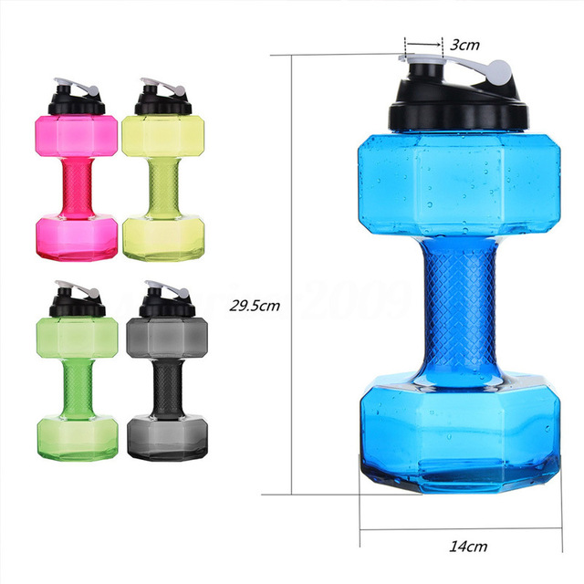 2.2 L Large Capacity Dumbbell Water Bottle For Gym 5