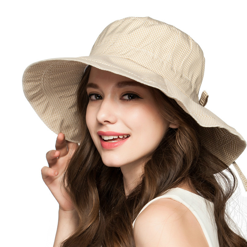 Constructive Female Summer New Korean Style Sun Hat Travel Sun Hat Can Be Folding Big Along Hat Convenience Goods