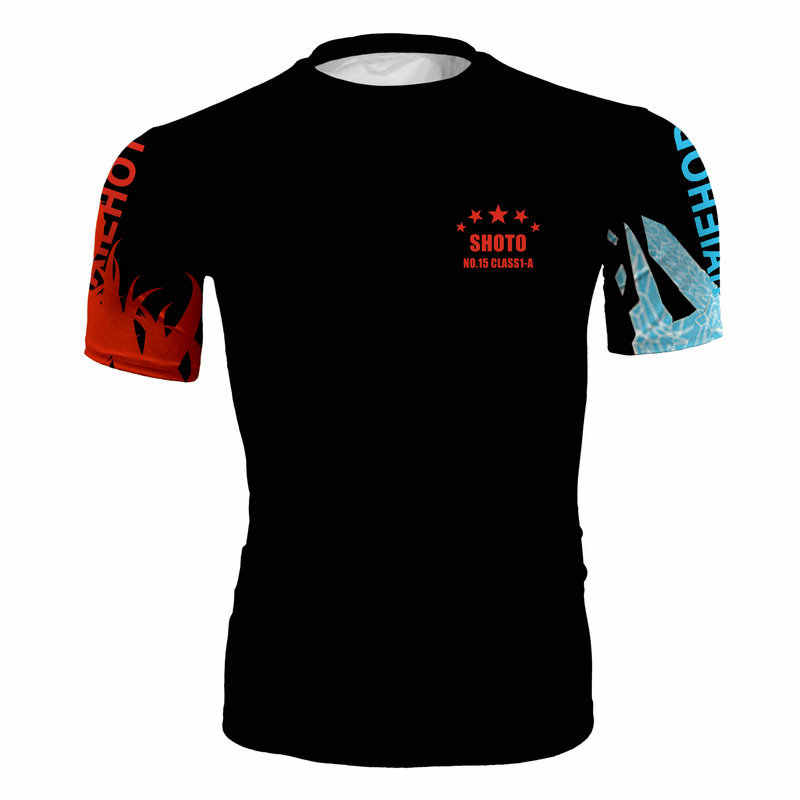 3D 印刷ヒーローカレッジ漫画スポーツフィットネススーツタイツランニングシャツ男性 Tシャツ圧縮シャツジムスポーツシャツの男性