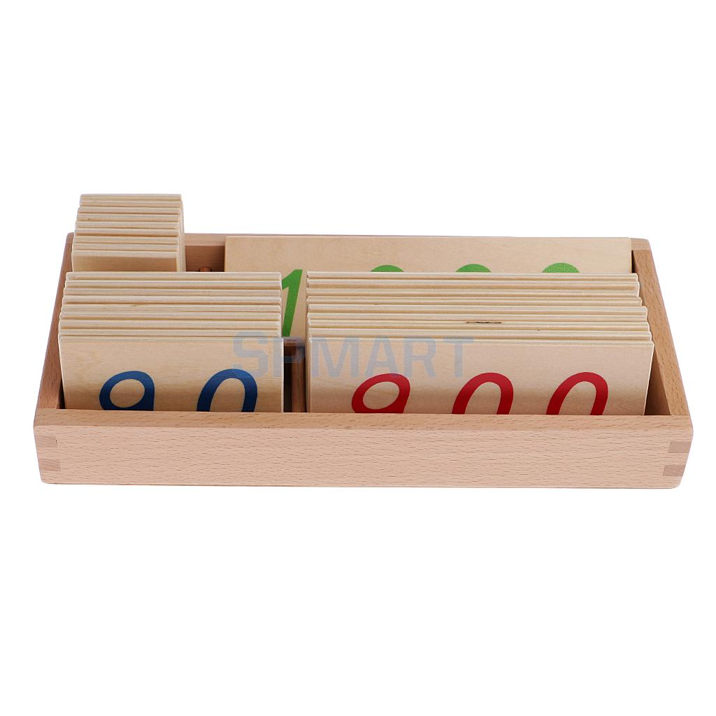 Montessori Mathematics Wooden Number Counting Cards 1-3000 in Box for Kids Baby Math Early Learning Educational Toys wooden educational tool number building blocks number sticks kids math learning educational toy ao p