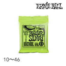 Original ernie ball 2221 níquel regular slinky guitarra elétrica cordas conjunto de ferida, .010 - .046(China)