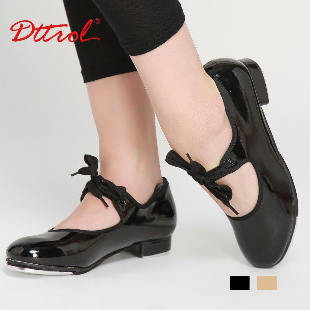 Black Shiny Tap Shoes