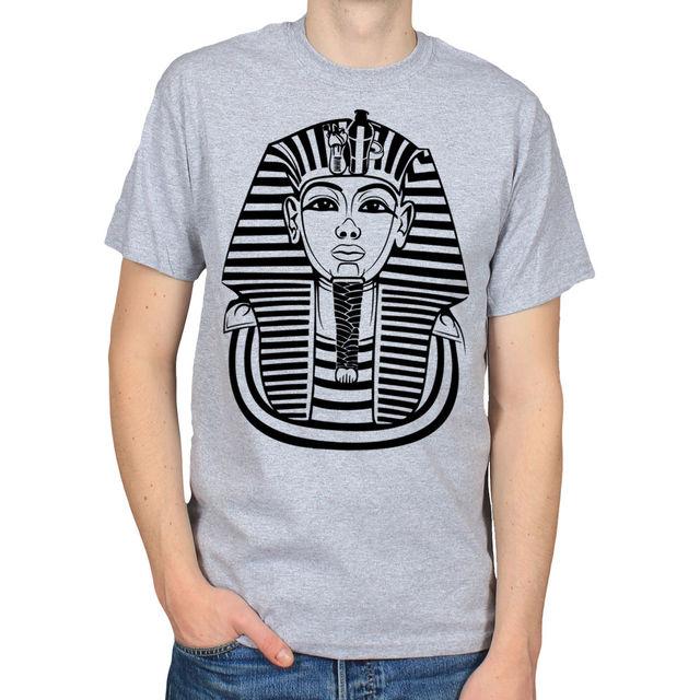 US $13 04 13% OFF|TUTANKHAMUN PHARAOH ANCIENT EGYPT 666 MASONIC ILLUMINATI  RA T SHIRT TEE High Quality Men T Shirts top tee-in T-Shirts from Men's