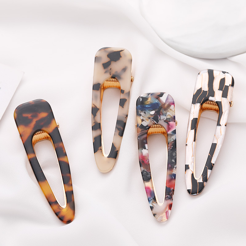New Big Size Women Elegant Leopard Print Acetate Waterdrop Hair Clip   Headwear   Hairpin Barrette Headband Fashion Hair Accessories