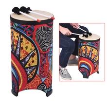 10 дюймов пол барабан Конга Konga барабан 3-ноги Дизайн ручной барабан с привлекательным ткань Книги по искусству поверхности ударный инструмент