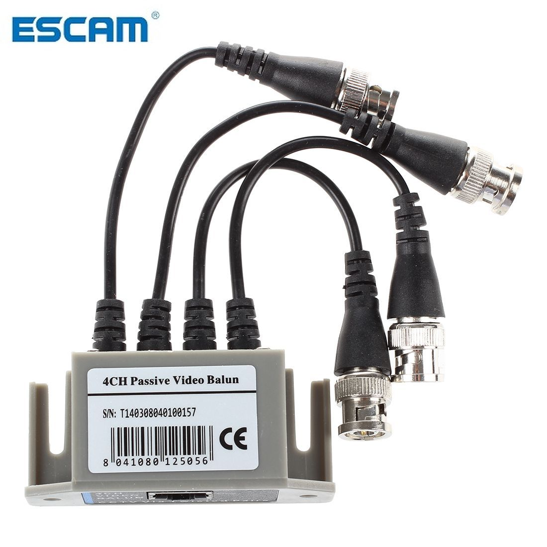 ESCAM 4-Channel Video Balun BNC UTP CAT5 Transmitter for CCTV  Surveillance Camera Trend