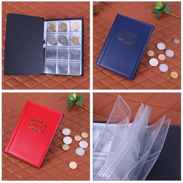 120 מטבע אחסון אלבום ספר כיסי מטבעות אלבום אוסף ספר מיני אגורה איסוף מטבע מחזיקי עבור אספן ספקי מתנות