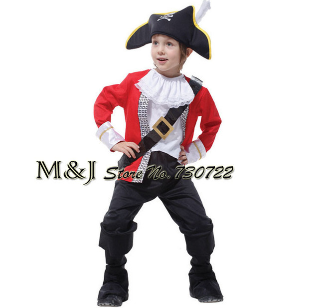 Free shipping!!Halloween children suit the new pirates of the Caribbean pirates cosplay costume stage performance clothing