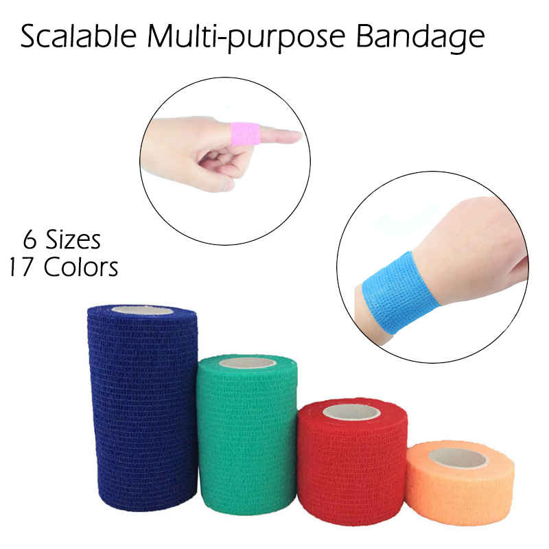 Support Wholesale Sports Muscle Stickers Tape Roll Cotton Elastic Adhesive Muscle Bandage Strain Injury Support
