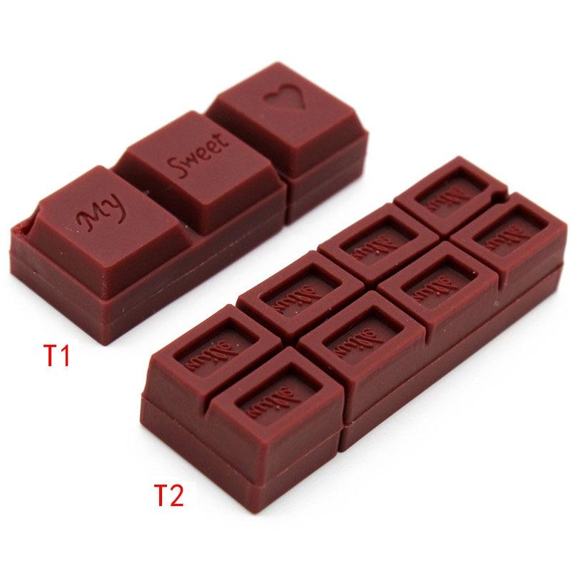 TEXT ME Cartoon  64GB  Cute Chocolate  Romantic  Gift  USB Flash Drive 4GB 8GB 16GB 32GB Pendrive USB 2.0 Usb Stick