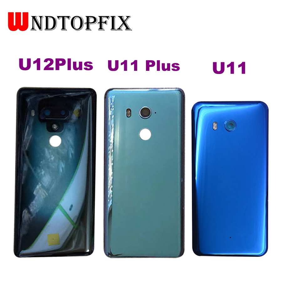 For HTC U11 Plus U12 Plus Back Battery Cover Rear Door Panel Glass Housing Case Replacement Part For HTC U11 Battery Cover Glass